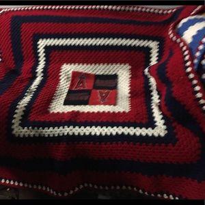 Angels baseball crochet sports Afghan Blanket